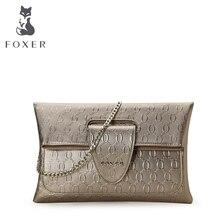 Casual women FOXER messenger bags genuine leather handbag day clutch bags for women cross body shoulder bag women purse bolsas