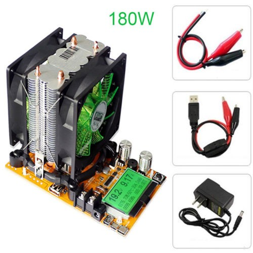 200V 20A 180W Adjustable Constant Current Electronic Load Battery Discharge Capacity Tester Meter