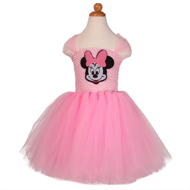 4b7eab3d6 Red, Pink Baby Girl Cartoon Minnie Dress Cosplay Tutu Dress Halloween  Costume Children Kids Christmas
