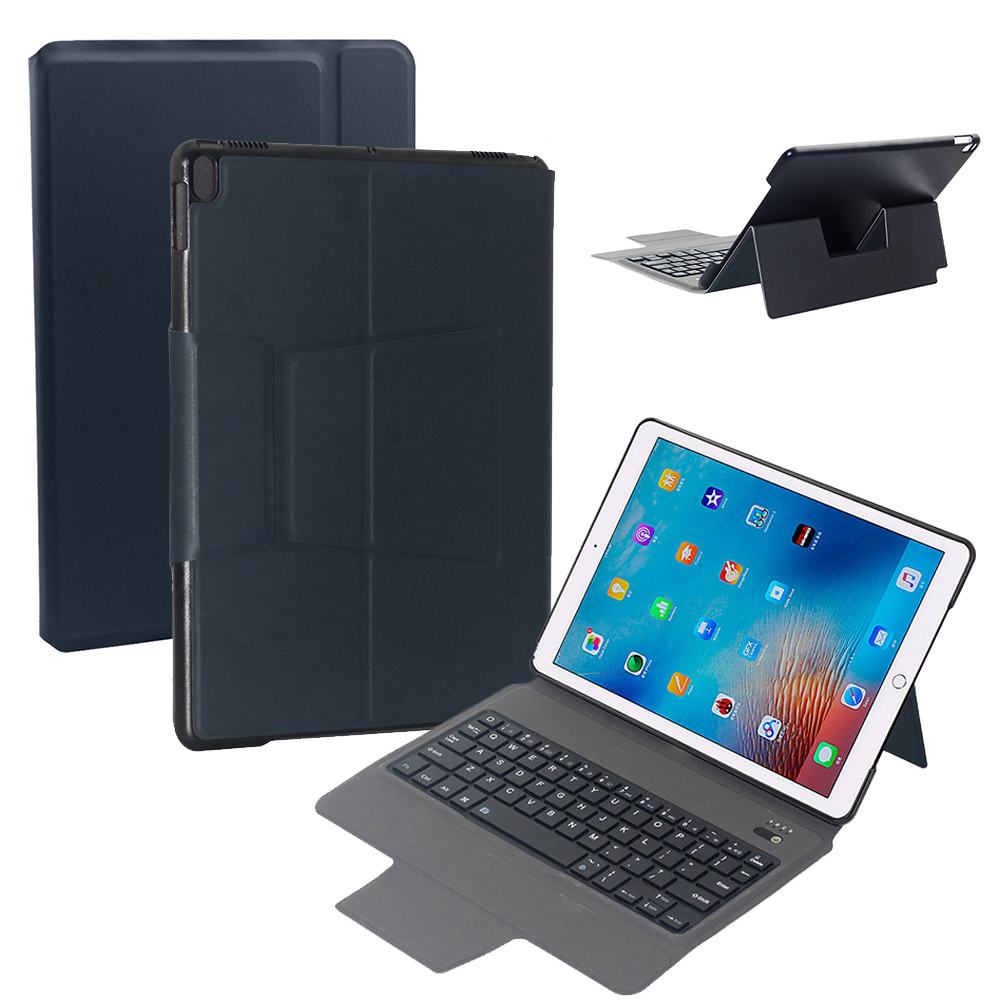 цена New PU leather + PC Bluetooth keyboard Case Cover For Apple iPad Pro 10.5 Smart Wake/Sleep keyboard Case Cover Skin