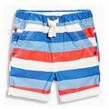 ЕВРО летняя одежда хлопка детей пляж спортивные брюки мужские полосатый mid колено длина мальчиков шорты брюки подросток брюки малыша шаровары