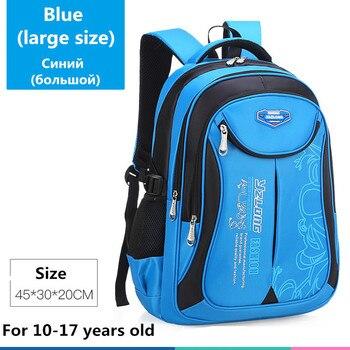 2020 hot new children school bags for teenagers boys girls big capacity school backpack waterproof satchel kids book bag mochila - Large-Blue