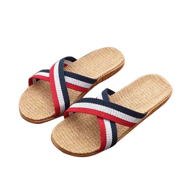 Anti Slip Linen Open Toe Home Shoes 1