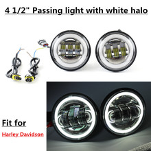 4 5 Inch LED Fog Lights Projector Auxiliary Daymaker Headlight Motorcycle Passing Fog Light font b