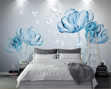 beibehang Custom wallpaper mural 3d blue flower hotel living room wall 3d wallpaper wall sticker wallpapers for living room beibehang custom wallpaper mural 3d blue flower hotel living room wall 3d wallpaper wall sticker wallpapers for living room