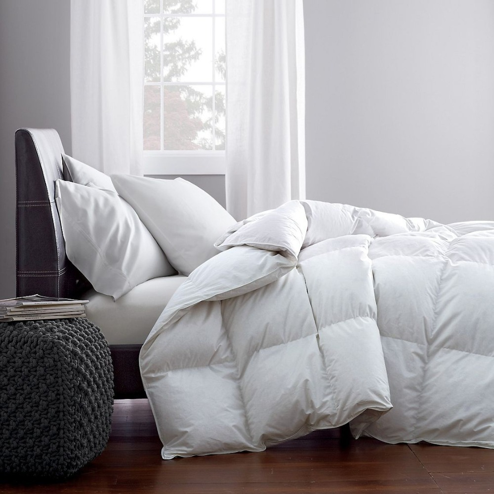 95 Natural White Goose Feather Down Winter Comforter Soft
