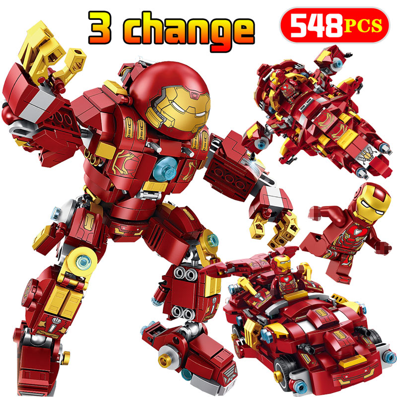 Avengers Infinity War Iron Man Legoingly New Super Hero Series Marvel The Hulkbuster: Ultron Edition Building Blocks Bricks Toys marvel avengers infinity war ironman hulkbuster building blocks 76104 super hero figures model bricks toys gift