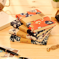 Creative Vintage Chinese Style Notebooks Cute Flower School Notebook Paper Travel Diary Office School Supplies
