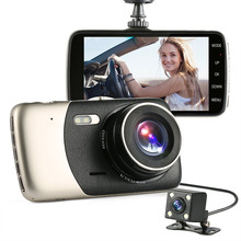 Dash Cam 4″ IPS FHD 1080p 170 + 120 Degree Wide Angle Dual Lens Car DVR Camera With Loop Recording G-Sensor Parking Monitor