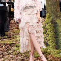 Arlenesain custom Women A line Lace Pink Casual Ball Gown Fashion Lady dress 2018 new Women dress