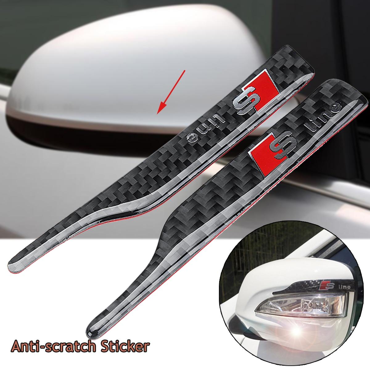 Car Rearview Mirror Carbon Fiber Anti-scratch Sticker for Audi A1 A2 A3 A4 A5 A6 A6L A7 A8 C7 Q3 Q5 Q7 RS3 RS4 SQ5 S5 RS5 RS7 S6