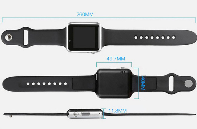 free shipping WristWatch Bluetooth A1 Smart Watch Sport Pedometer With SIM Camera Smartwatch For Android Smartphone with Russian