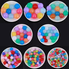 GDFSY 300pcs/lot 6/8/10/12/14/16/18/20mm Handmade DIY Plastic Round Beads for Jewelry Making Bracelet Necklace Accessories S010