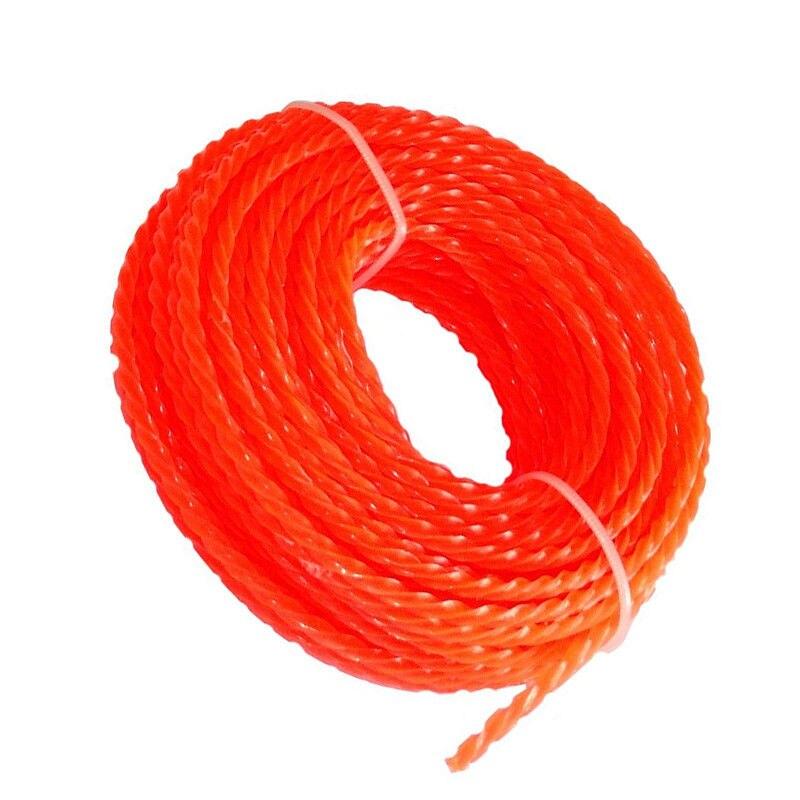 Threaded Nylon Strimmer Line 15m x 3mm Cord Wire String Grass Trimmer Line Garden Grass Cutter Trimmer Replacement Part
