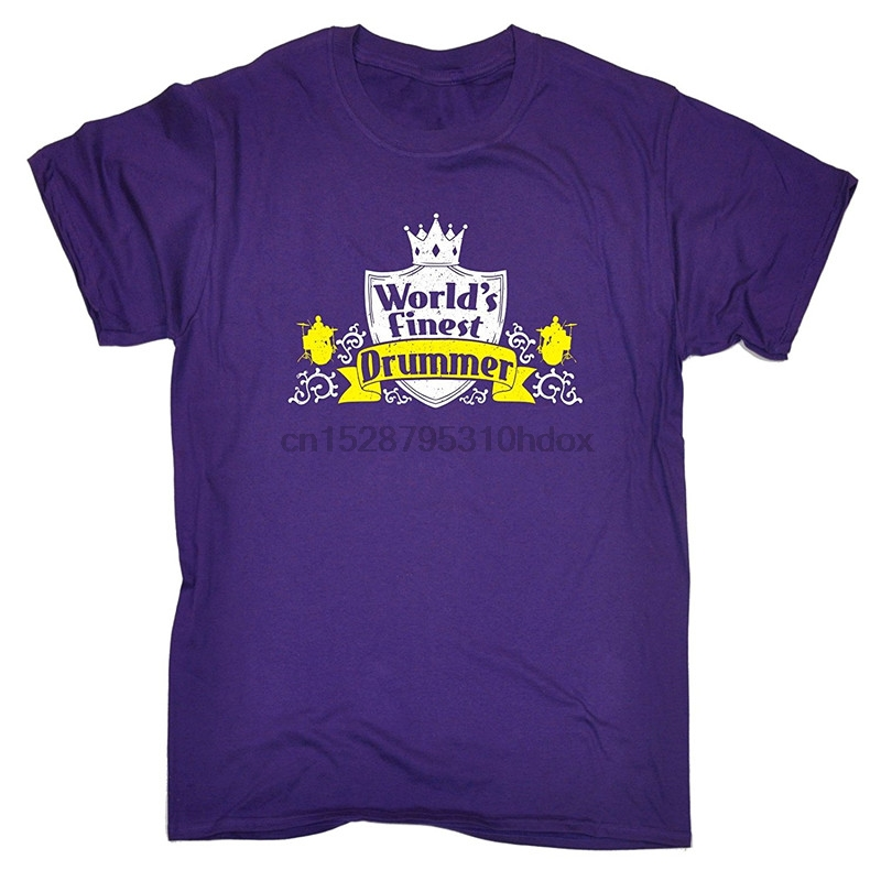 Make Your Own Shirt Online Office World Finest Drummer O-Neck Short-Sleeve Tee For Men