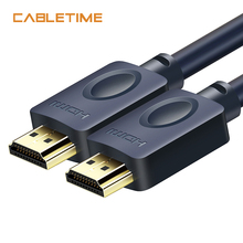 hot deal buy cabletime hdmi cable 4k 2.0 60hz uhd for office home cl3 hdmi to hdmi for xiaomi projector nintend switch ps4 television  n113