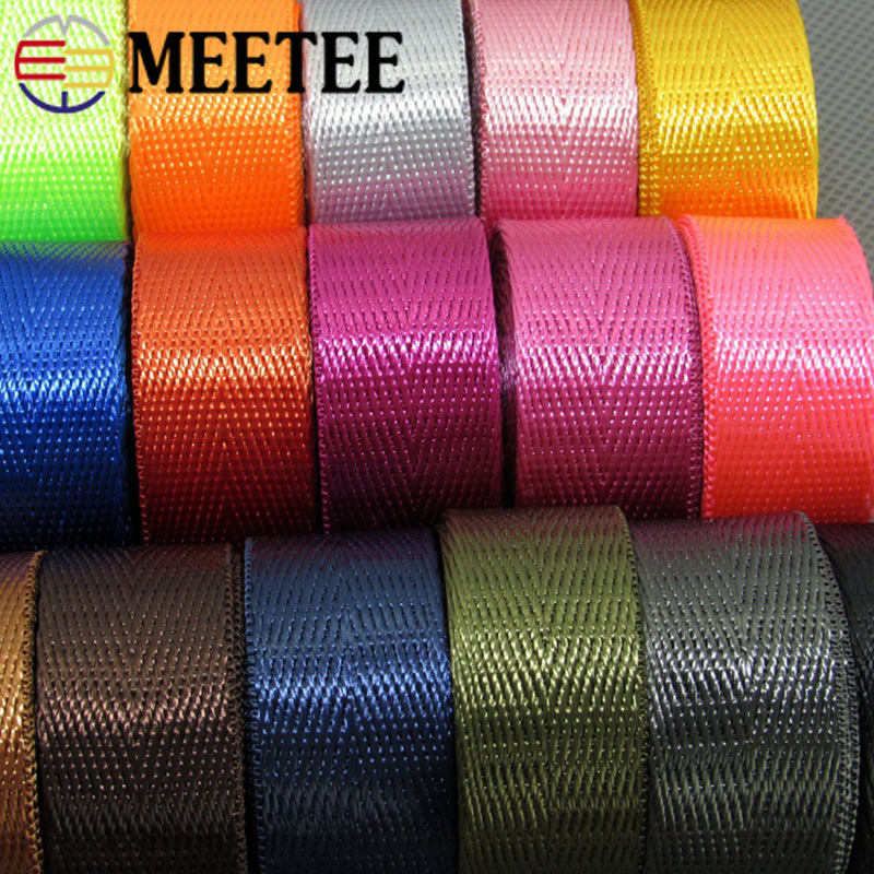 10Meters Herringbone 20mm Nylon Webbing Ribbons Dog Collar Backpack Knapsack Strap Belt Tape Bias Binding DIY Sewing Accessories in Webbing from Home Garden