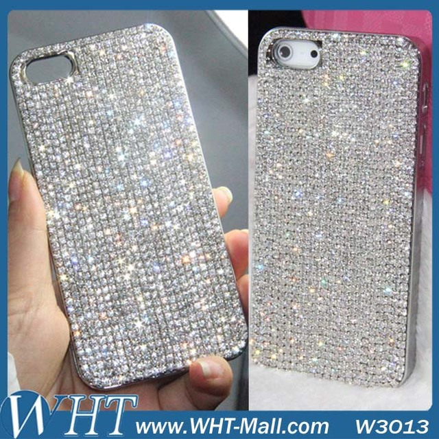 4acf7cebab94 Luxury Chrome Hard PC Bling Bling Diamond Case for iPhone 7