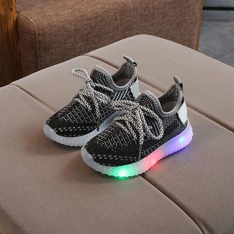 Toddler Boy Sneakers Children Baby Boys Mesh Led Light Luminous Running Sport Sneaker Shoes Chaussure Lumineuse Pour Garcon Lahore