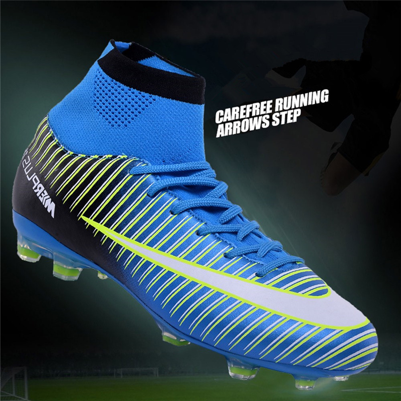 05b4ec73ffe Turf Soccer Shoes Cheap Soccer Cleats Superfly High Ankle Football Boots Men  2018 Chuteira Futebol Original ProfissionalUSD 36.80 piece