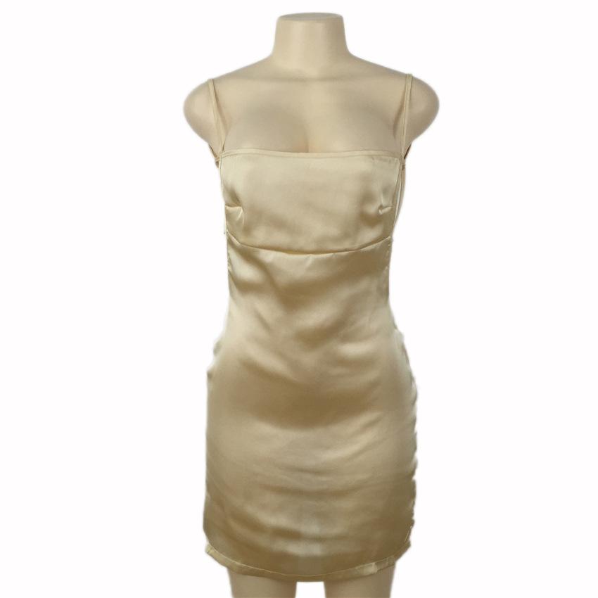 HTB1TqegPVXXXXbTXpXXq6xXFXXXz - FREE SHIPPING Women Sexy Strapless Backless Satin Summer Dress JKP275
