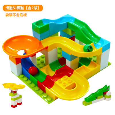Dolle Knikkerbaan Slide Building Toy Block Table Ball Parts Compatible Duplo DIY Colorful Building Blocks Children