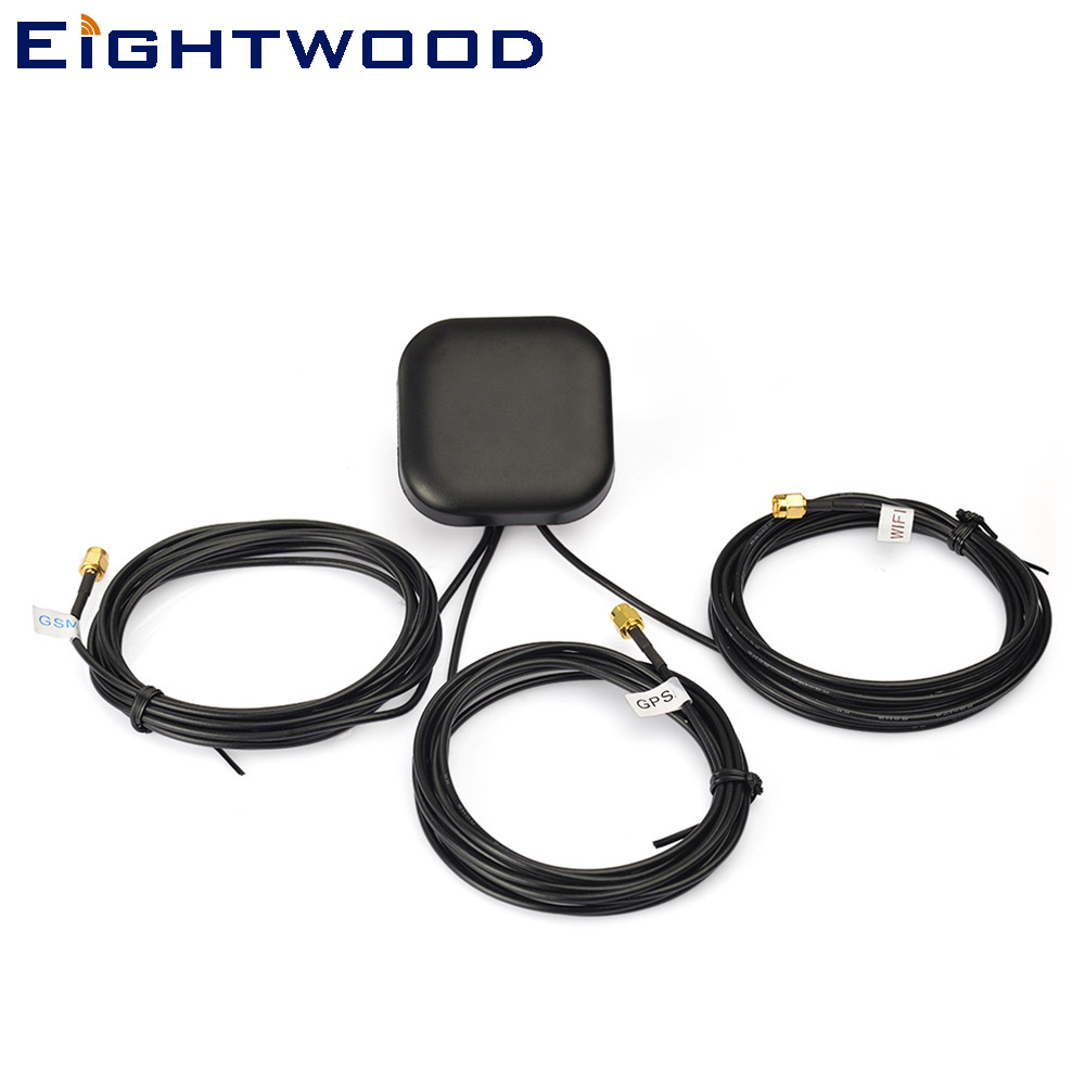 Eightwood Car Multi-band Antenna GPS+WiFi+GSM Antenna SMA Series for VW Audi BNW Ham car gps antenna gps receiver car dvd gps antenna with 3 5mm sma smb mcx mmcx bnc tnc fakra connector for mfd2 rns2 or other