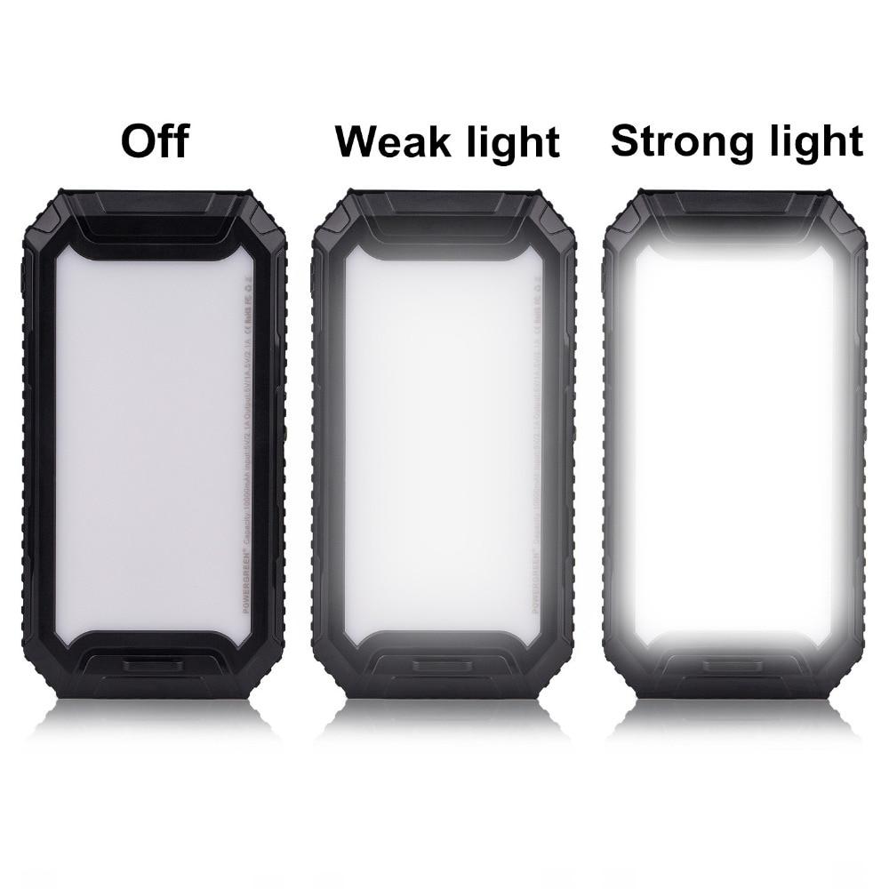 PowerGreen Solar Charger Backup Baterai Darurat 10000mah Dual Output - Aksesori dan suku cadang ponsel - Foto 5