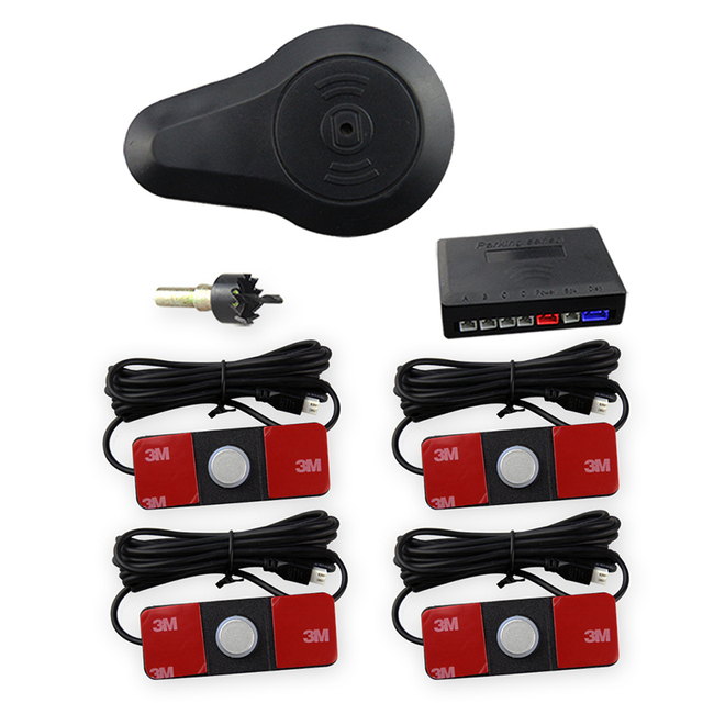 Parking Sensor 13mm with 4 Sensors 13mm OEM Original Sensor Super Quality With Buzzer BiBi Alarm Black White Silver