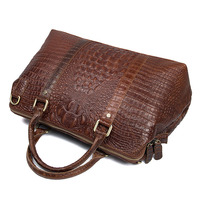 High end luxury crocodile pattern leather handbags ladies shoulder satin leather ladies Messenger bag women purses and handb