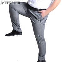 MFERLIER Spring Summer men pants 5XL 6XL 7XL 8XL 9XL 10XL waist 138cm Plus size elastic weight 145kg large size pants men