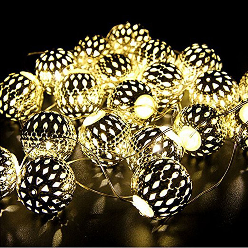 Solar String Light Outdoor, 30 LED Gold Moroccan Waterproof Warm White String Lights for Curtain,Landscape,Holiday,Christmas snowscape print christmas waterproof shower curtain