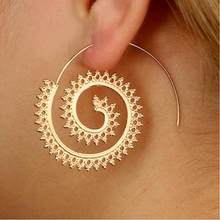 On Sale Geometric Whirlpool Gear Dangle Earrings Women Hyperbole Drop Earrings Bijoux Brincos Jewelry Gift E5135(China)