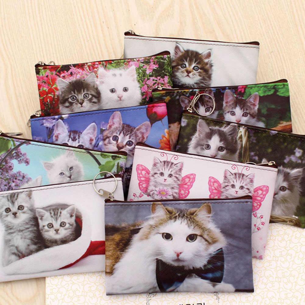 2019 Mới Mèo Đáng Yêu Tiền, Kitty Khóa Zipper Nữ Ví Mini Ví Hình Hoạt Hình Nhỏ Túi Túi Giá Đỡ Đổi Ví