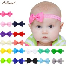 2019 baby stirnbänder bowknot fashion solid nette stirnband baby mädchen 27(China)