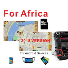 2018 version Africa GPS MAP with 8G card for Android device car navigation Car stereo car dvd player
