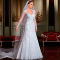 Cheap Custom Backless Crystal Beads Gowns for Garden Church Wedding Bride High Quality 2016 White Lace Wedding Dresses