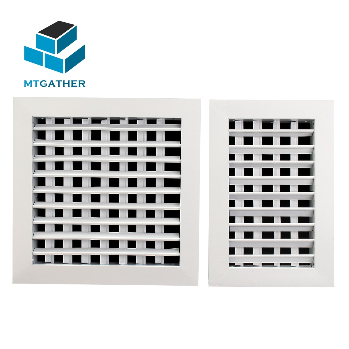 4 x Large 300 x 300mm Aluminium Air Vents Grille Louvred Square White or Silver