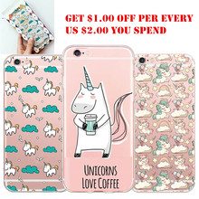 Cute Unique Unicorn Cartoon Transparent Ultra Thin Flexible Soft Silicone Phone font b Case b font