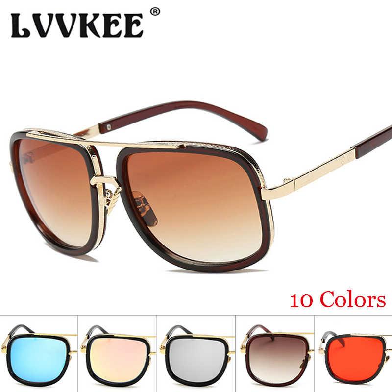 6a381c323d3 LVVKEE 2018 New Classic Men mach one Sunglasses Luxury Brand Women Sun  Glasses Square Male Retro