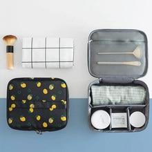 Original Fashion Large Capacity Portable Makeup Brush Cosmetic Bag Travel Wash Toiletry Organizer Underwear Storage Bag все цены