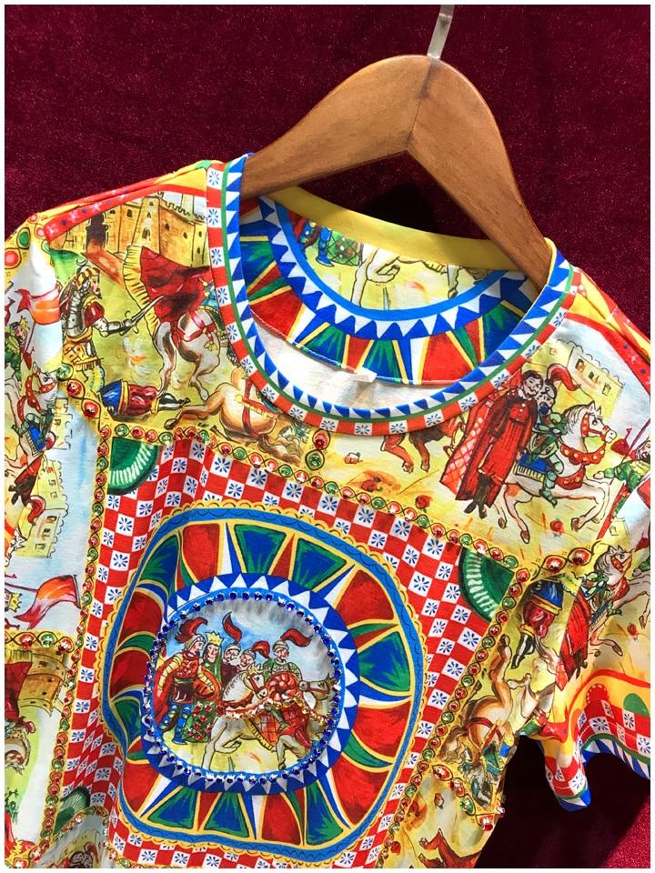 cfdea4a6c571 Stile T Da Donne Europeo Famoso Modo Lusso shirt Camicette 2019 Marca Di  Design Magliette Del ...