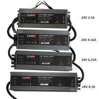 24VDC 60 Вт 100 Вт 150 Вт ультра-тонкая Водонепроницаемая светодио дный источника питания IP67 2A 4A 6A 8A светодио дный драйвер для светодио дный полосы ...
