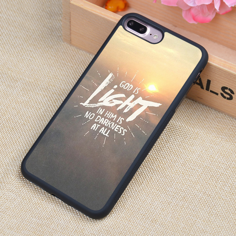 Christian Jesus Bible Verse Printed Soft TPU Skin Cell Phone Case For iPhone 6 6S Plus 7 7 Plus 5 5S 5C SE 4 4S Back Cover Shell