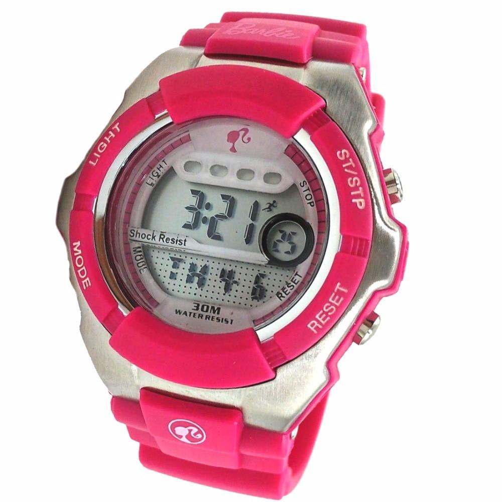 Magenta Watchcase Chronograph Alarm Magenta Bezel Water Resist Kids Watch