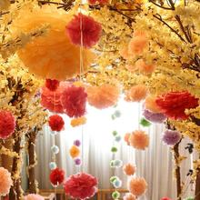 Govaz Wedding Decoration Events Accessories 20 25 30cm Pom Pom Tissue Paper Pompom Ball Party Supplies Baby Shower Birthday(China)