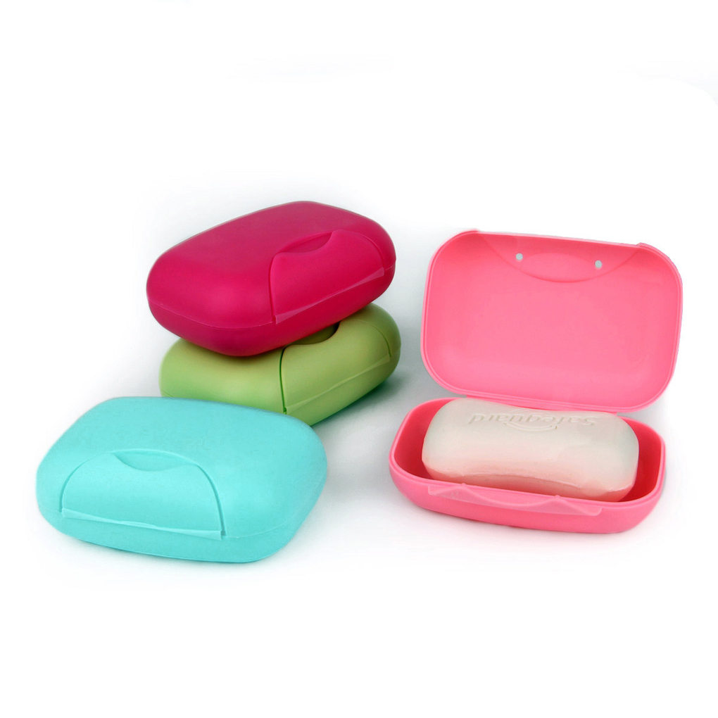 new arrival 4 colors travel handmade soap box soap case dishes waterproof leakproof soap box with lock box cover wholesale