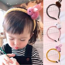 1 Pcs New Kids Cute Rabbit Headbands Hairband Headwraps Animals Hairpins Plush Cat Ears Hair Clips Girls Accessories