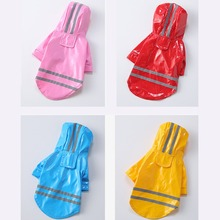 Jackets Raincoat Pet-Coats Puppy Dogs Reflective Waterproof Summer Outdoor for Cats Apparel