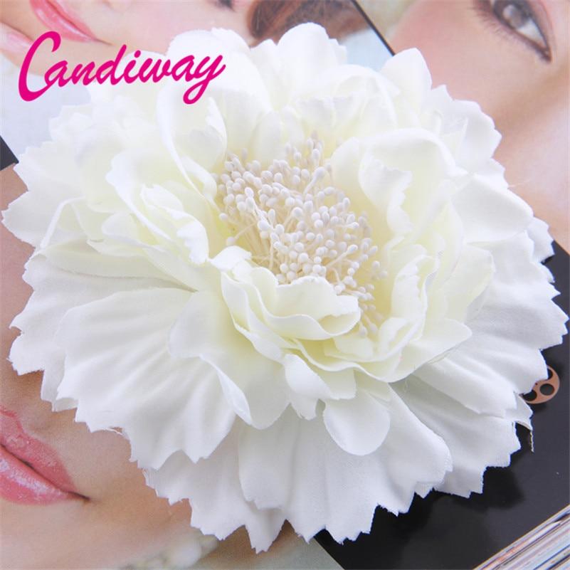 2017 nieuwe collectie witte hoge kwaliteit bloem haar clip vrouwen haaraccessoires haarspelden vrouw bruids haar decoraties